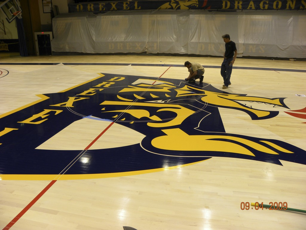 Drexel athletic hardwood floors