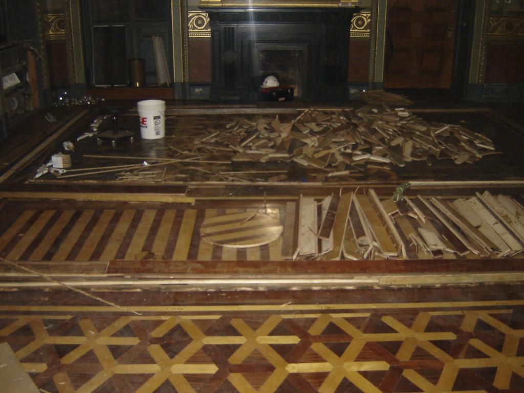 completing historic hardwood floor restoration process
