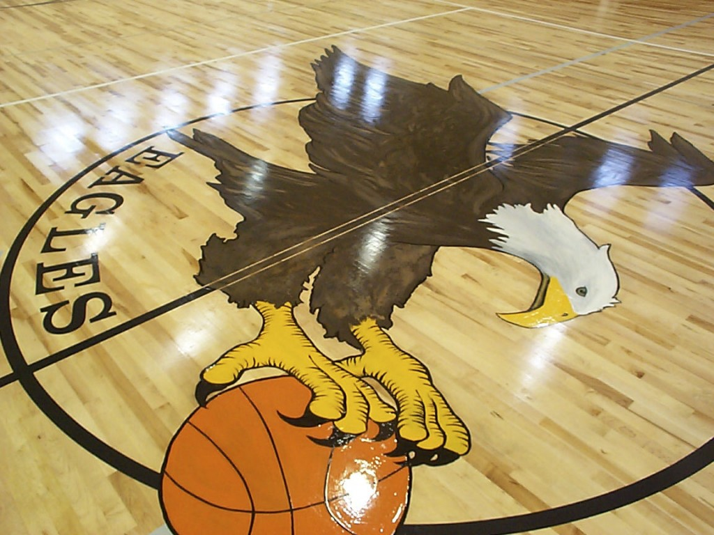 Eagles basketball court flooring