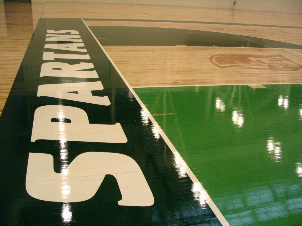 Spartans athletic flooring