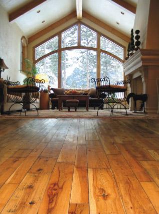 hickory hardwood floors in living room
