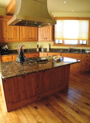 hickory hardwood floors in kitchen