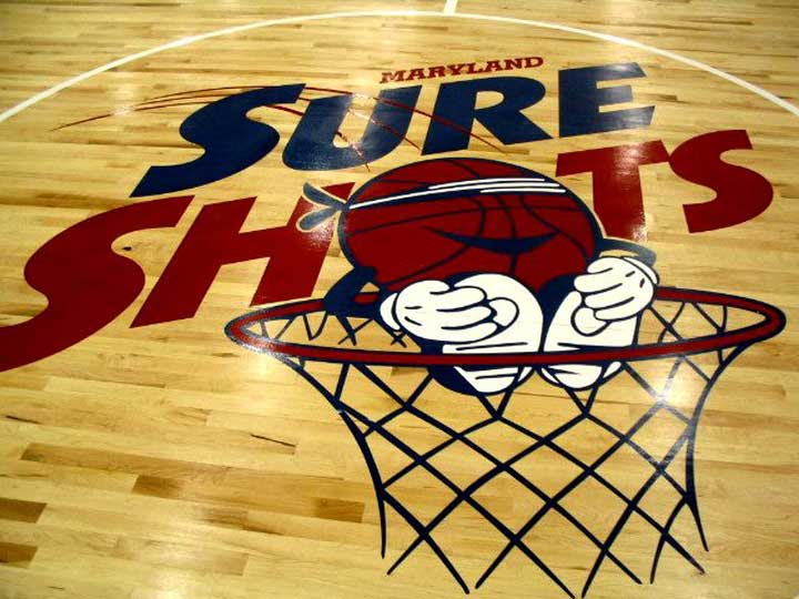 Maryland Sure Shots basketball court floors