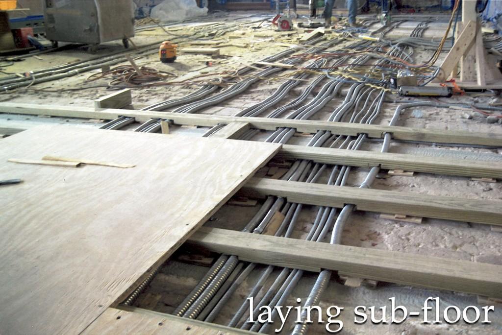 laying subfloor