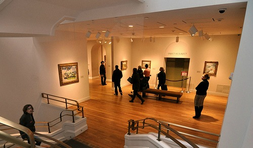 hardwood floors in museum